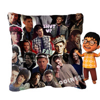 Sam Winchester Supernatural Pillow Cover Design pilspillow