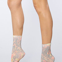 Free People Free People Molly Boot Sock in Hot Pink Paisley Combo : Karmaloop.com - Global Concrete Culture