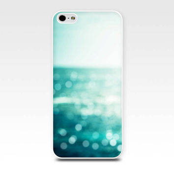 bokeh iphone case 5s iphone 4s case nautical iphone case abstract iphone 4 case 5 beach iphone case ocean teal aqua blue photography case