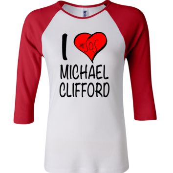 5 Seconds Of Summer Michael Clifford 3/4 Sleeve Baseball Ladies Jersey