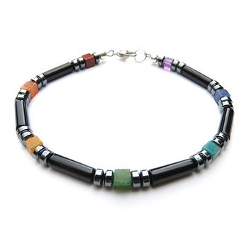 Mens Handmade Beaded Bracelets Chakra Stones Healing Crystals Balance, Energy Protection Alignment