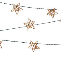 Rattan Star String Lights Set