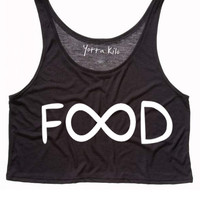 Colorful Infinity Food Crop Tank Top
