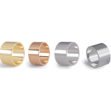 Shiny Cuff Ring in 3 colors - Rose Gold, Silver, Gold Cuff Ring