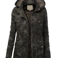 LE3NO Womens Military Anorak Safari Jacket Vest
