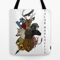 Valar Morghulis (Game of thrones) Tote Bag by Beatrizxe | Society6