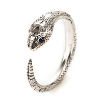 Exclusive Serpent Ring with sapphires