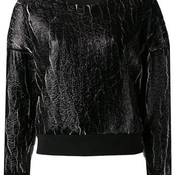 3.1 Phillip Lim coated cropped sweatshirt