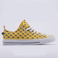Michigan Wolverines Official NCAA Skicks Unisex Low Top Sneakers - 2