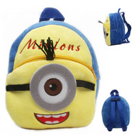 New cute cartoon kids plush backpack toys mini schoolbag for Children