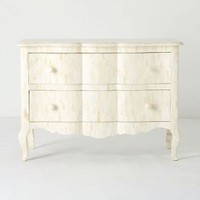 Scalloped Inlay Dresser by Anthropologie Neutral Motif One Size Furniture