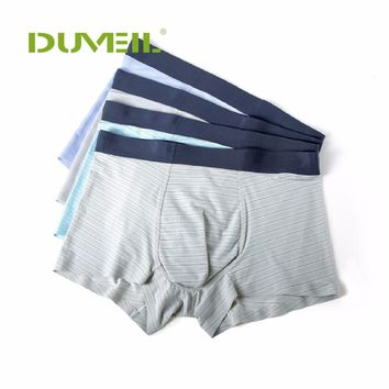 3pieces/Lot Men Breathable Sports Underwear Flexible Four Corners Underpants Seamless One Piece Ice Silk Flat Pants Four Corners