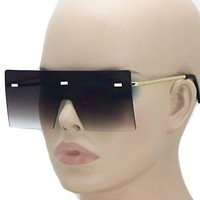 New CD HARDIOR Flat FUTURISTIC SHADES SHIELD VISOR Style SUN GLASSES Smoke Lens