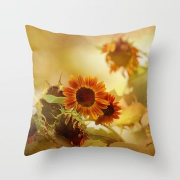 Autumn Blessings Throw Pillow by Theresa Campbell D'August Art