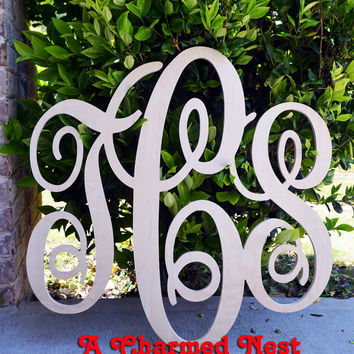 24 inch wooden monogram letters great for weddings birthdays gifts nursery and
