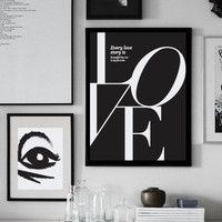 """Love Poster """"Every love story is beautiful, but ours is my favorite"""", Love Quote, Love Print, Typography Poster, Minimalist Poster, Home Art"""