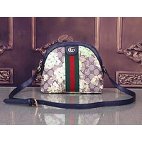 Gucci Women Shopping Shoulder Fresh Color Edge Bag B-WMXB-PFSH Green Floral