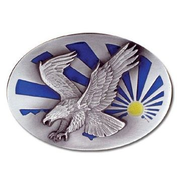Sports Accessories - Eagle and the Sun Enameled Belt Buckle