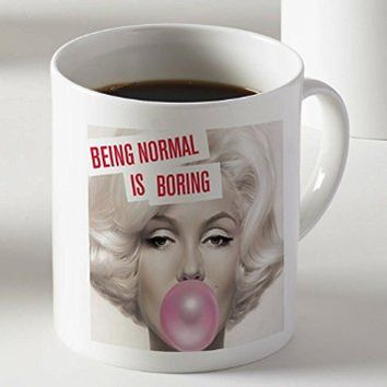 Marilyn Monroe with Pink Bubblegum Coffee Cup Mug Two Sides