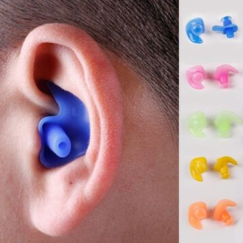 Pool 1 Pair Swimming Accessories High Quality Pool Soft Silicone Swim Waterproof Earplug Nose Clip Swim Earbuds Surf Swimming Ea