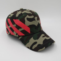 OFF White Camo Baseball cotton cap Hat