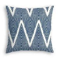 Navy Tribal-Inspired Chevron Custom Throw Pillow
