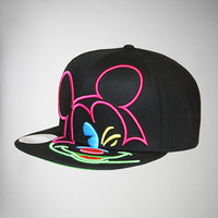 Mickey Mouse Neon Snapback Hat