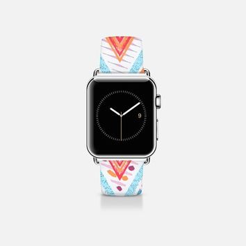 SUMMER ETHNIC CHEVRON - APPLE WATCH Apple Watch Band (38mm)  by Nika Martinez | Casetify