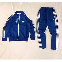 Adidas Fashion Letter Long Sleeve Shirt Sweater Pants Sweatpants Set Two-Piece Sportswear Red