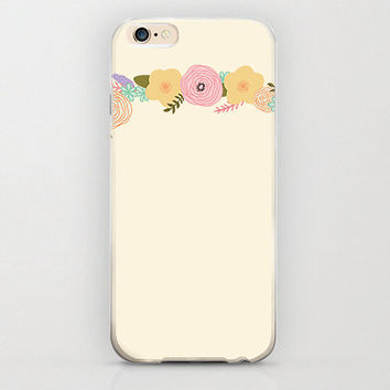 Floral iPhone 6 Case Flowers and Rose Petals Tree Vine Beige Color Phone Covers and Apple iPhone 6 Cell Phone Cases Hard Case Protectors