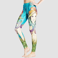 Print Fitness Workout Pants Yoga Leggings [10182760583]