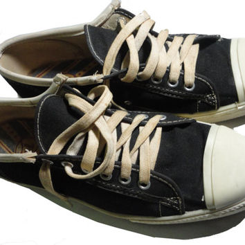 vintage TIFFS Black Sneakers 10 1970s CONVERSE All Star copycat Pro Keds