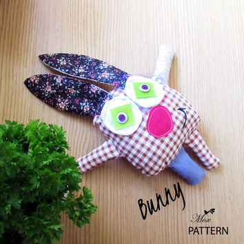 PDF Sewing Pattern Bunny Instant Download