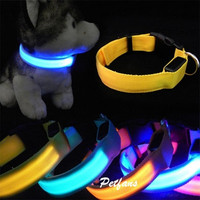 Hot Fashion Adjustable Dog Cat Puppy Pet LED Neck Strap Flashing Collar Light