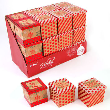 Square Kraft Paper Box with Lid Case Pack 48