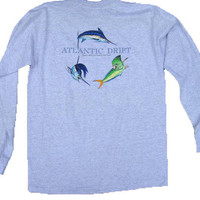 Heather Grey Offshore Pock/T L/S by Atlantic Drift | Atlantic Drift