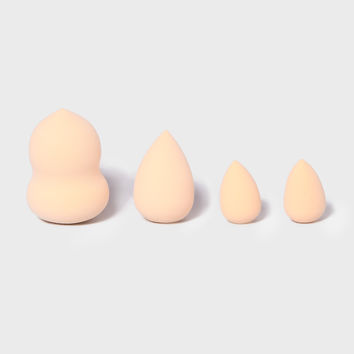 Profusion Cosmetics: Allure Beauty Makeup Sponge Set - Beige