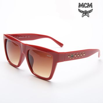 MCM 2018 tide brand fashion big frame sunshade sunglasses wild sunglasses F-ZXJ Red