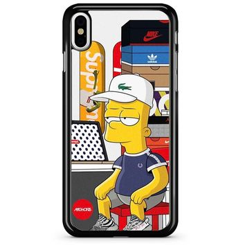 Bart Simpson And Milhouse Supreme iPhone X Case