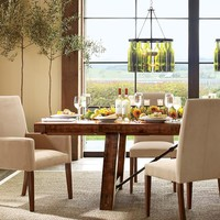 Benchwright Extending Table & Grayson Chair 7-Piece Dining Set