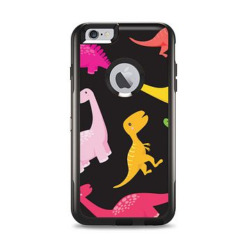 The Vector Neon Dinosaur Apple iPhone 6 Plus Otterbox Commuter Case Skin Set