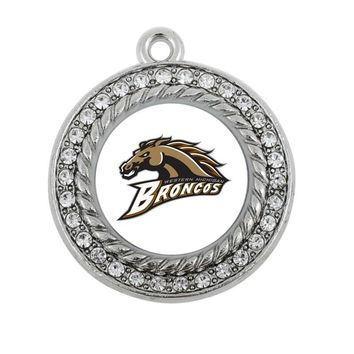 Western Michigan Broncos  CHARM ANTIQUE SILVER PLATED JEWELRY