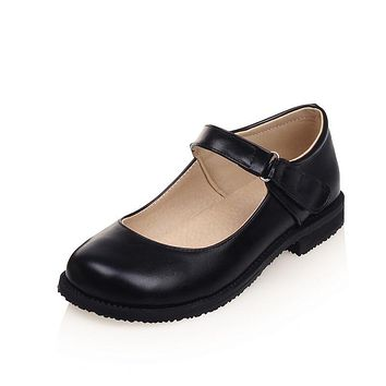 Vintage Round Toe Flats Shoes for Women 5777