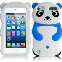 For Apple Ipod Touch 5 5th Generation Panda Silicone Jelly Skin Cover Case Cool Blue Accessory