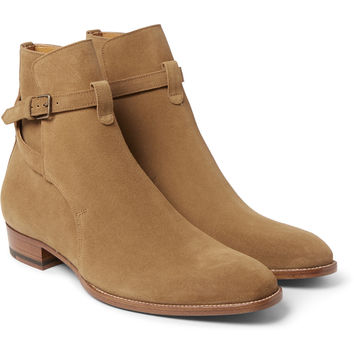 Saint Laurent - Cigar Suede Jodhpur Boots | MR PORTER