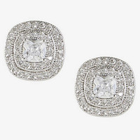 Double Halo Cubic Zirconia Stud Earrings from EXPRESS