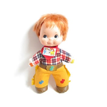 Mattel Love Notes Doll Bucky Redhead Cowboy Musical Boy Vintage 1974 Toy