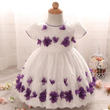 2017 Brand New Baby Girl Clothes Dresses Summer Tutu Dress Baby Girl First Birthday Outfit Girl Vestido 1 Ano Vestidos Infantil