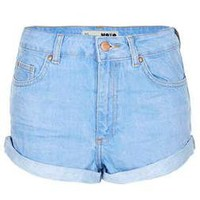 MOTO Blue High Waisted Hotpant - Festival - Clothing - Topshop
