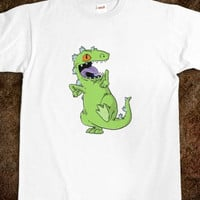 Reptar Tee - Women's - S/M/L/XL - Pink/Gray/White